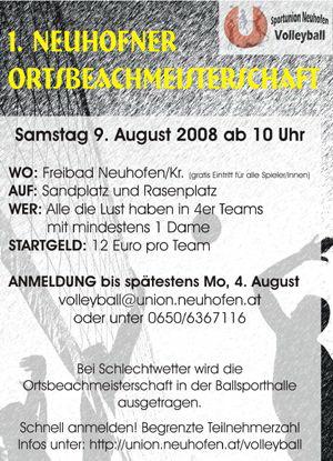 Orts-Beachvolleyball-Meisterschaft Neuhofen